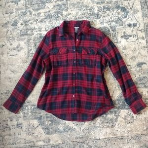 Charlotte Russe | Burgundy and Navy Flannel